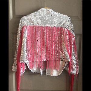 MISSGUIDED Fringe jacket 💗